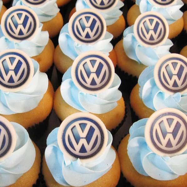 Branded Logo Cupcakes Corporate Events Image Cupcakes