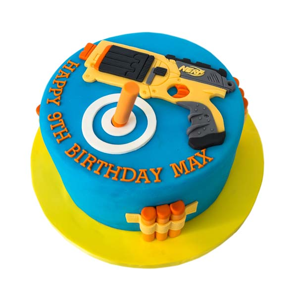 Admirable Nerf Gun Cake Best Custom Birthday Cakes Toronto Bakery Gta Personalised Birthday Cards Veneteletsinfo