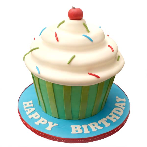 Giant Cupcake Birthday Cake Delivery
