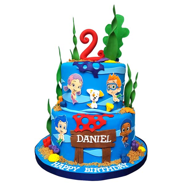 Magnificent Bubble Guppies Cake Birthday Cakes Toronto Eini Co Birthday Cards Printable Trancafe Filternl