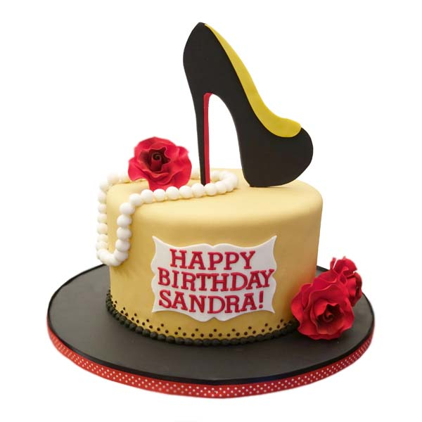 Happy Birthday High Heel Cake